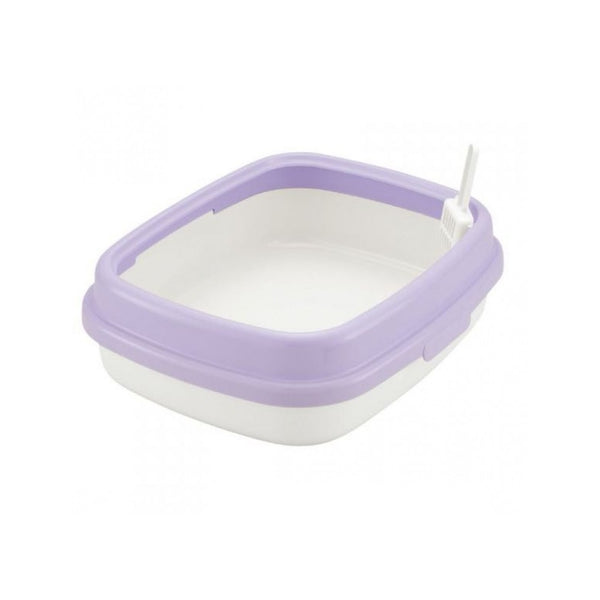 Corole Litter Pan w/ Low Rim 55, Color: Purple