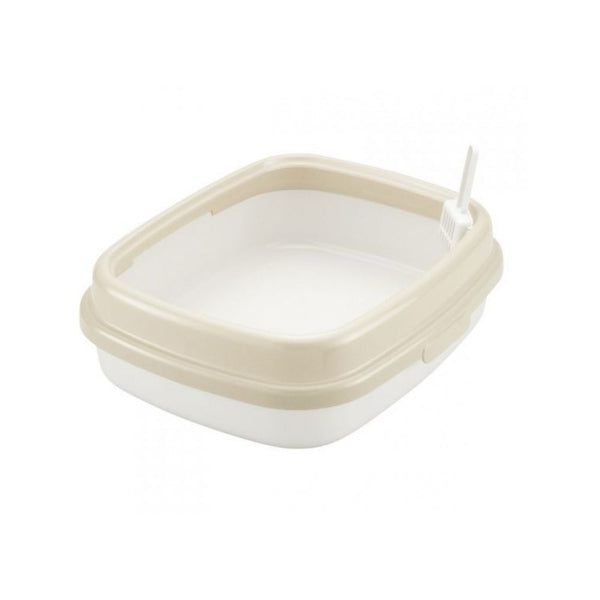 Corole Litter Pan w/ Low Rim 55, Color: Sand
