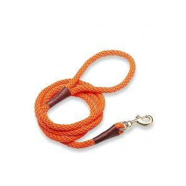 "Snap Leash, Color Orange, 3/8"", 4ft under 50lbs"