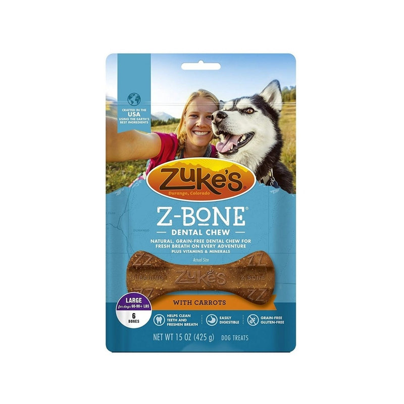 Z-Bones Clean Carrot Crunch, Grain-Free for Dogs, Large