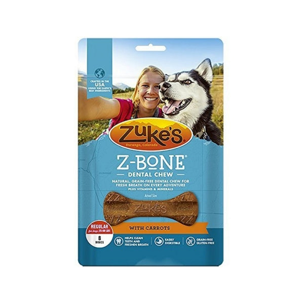Z-Bones Clean Carrot Crunch, Grain-Free for Dogs, Regular
