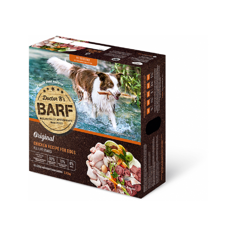 Canine Raw BARF Chicken, 227g x 12