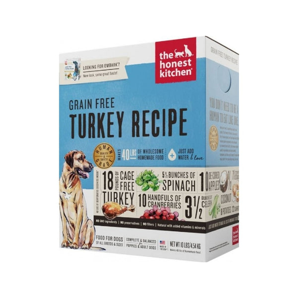 Grain Free Turkey Recipe Dehydrated Dog Food, 10lb