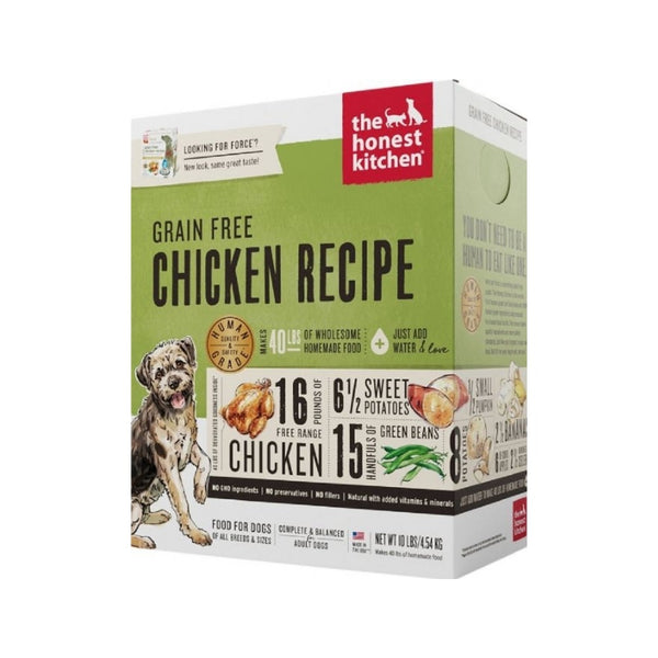 Grain Free Chicken Recipe Dehydrated Dog Food, 10lb