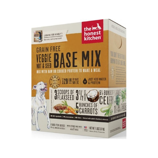 Grain Free Veggie, Nut & Seed Base Mix Dehydrated Dog Food, 3lb