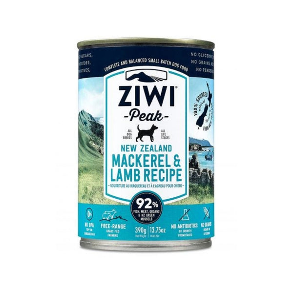 Mackerel & Lamb Recipe Wet Dog Food, 390g
