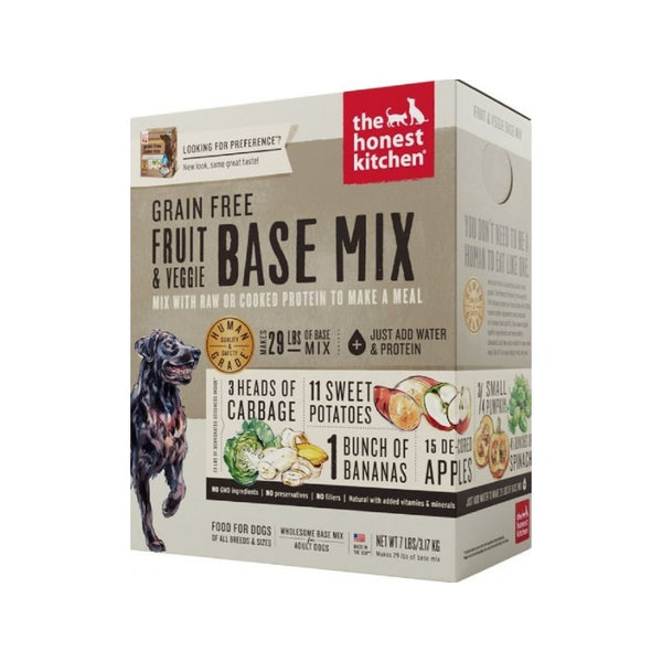 Grain Free Fruit & Veggie Base Mix Dehydrated Dog Food, 3lb