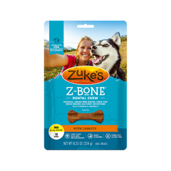 Z-Bones Clean Carrot Crunch, Grain-Free for Dogs, Mini