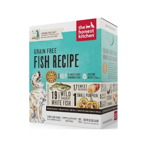 Grain Free Fish Recipe Dehydrated Dog Food,10lb