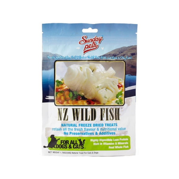 NZ Wild Fish Natural Freeze Dried Treats for Dogs & Cats Weight : 1.76oz