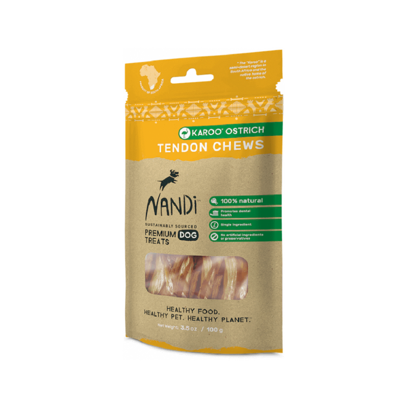 Tendon Chews Karoo Ostrich for Dogs, 100g
