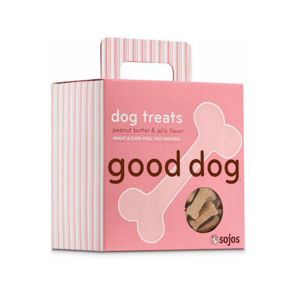 Hand-Baked Good Dog Snacks 8oz , flavor: Peanut Butter & Jelly