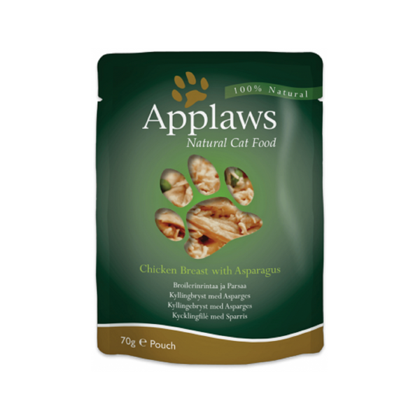Chicken Breast w/ Asparagus Pouches Weight : 70g