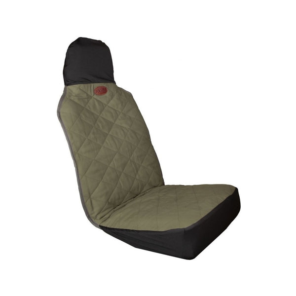 Premium Bucket Seat Cover, Color: Grey/Black