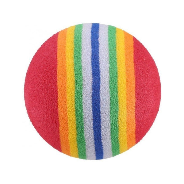Rainbow Ball Cat Toy, 3 Balls, 1.4""