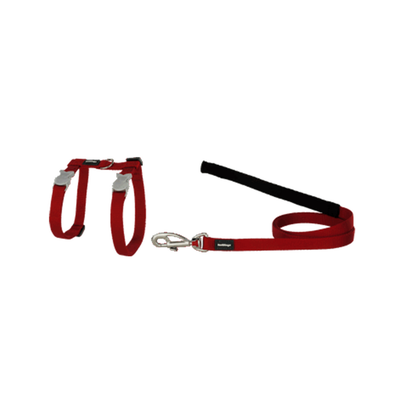 Classic Cat Harnesses & Leads, Color: Red