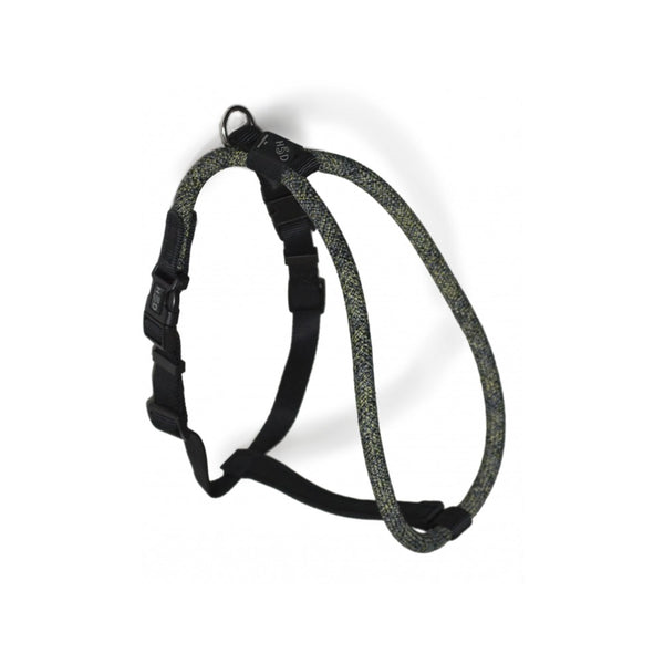Rope Walker Harness Leisure Collection, Color BYG (Black x Yellow x Grey), Small/Medium