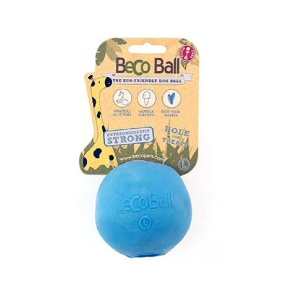 Natural Rubber Bouncy Ball, Color Blue, Large