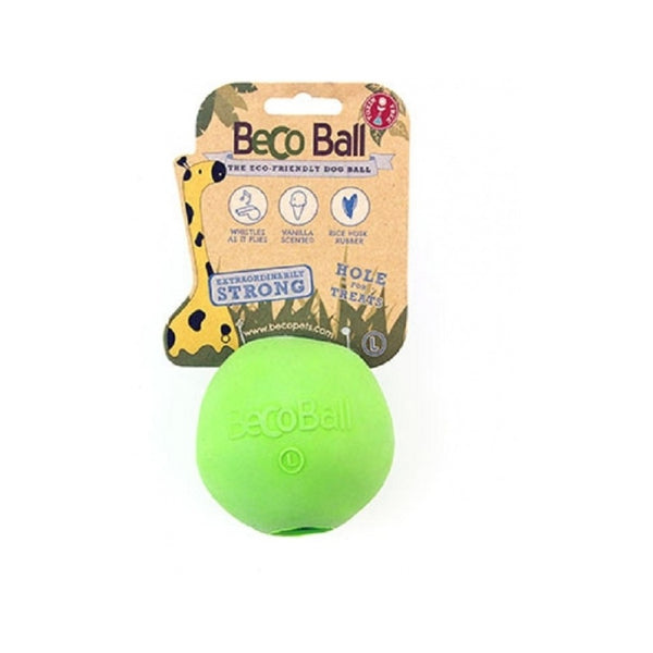 Natural Rubber Bouncy Ball, Color Green, Large