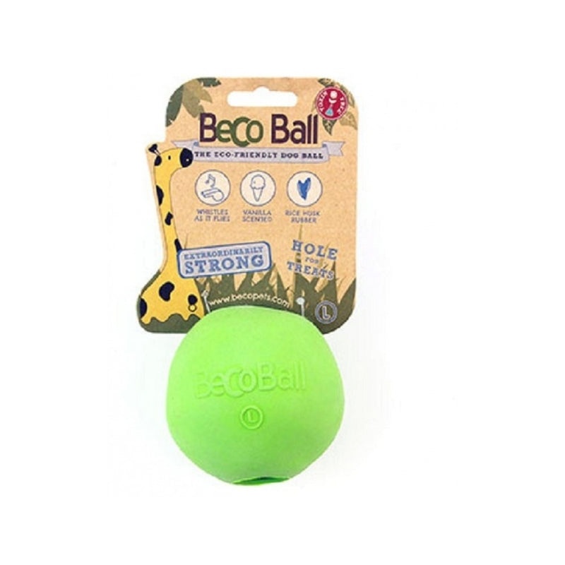 Natural Rubber Bouncy Ball, Color Green, Small