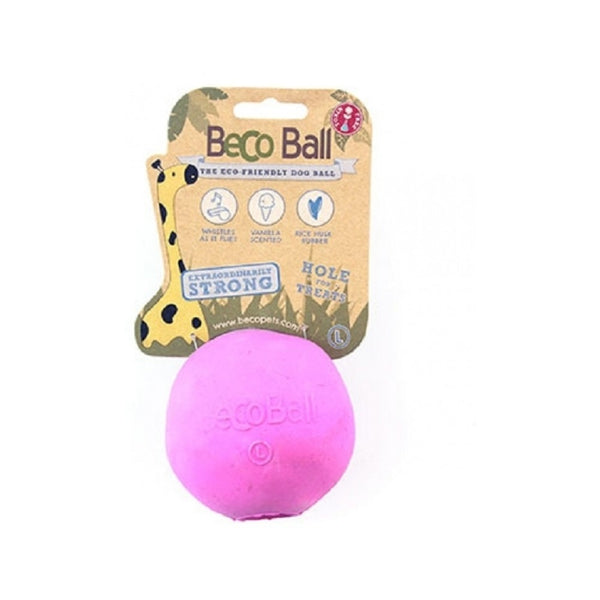 Natural Rubber Bouncy Ball, Color Pink, Large