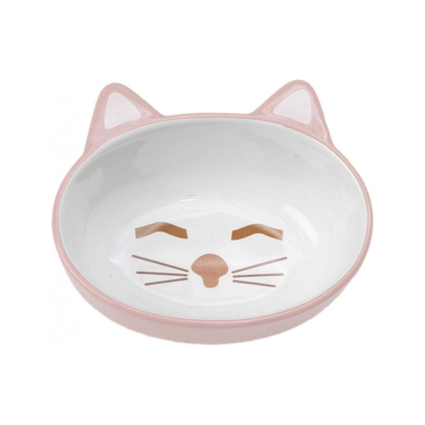 "Sleepy Kitty Oval Cat Dish Size : 5.5"" / 5.3oz"