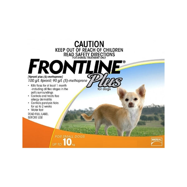 Frontline Plus Applicator : x 3, Size : Small (up to 10kg)