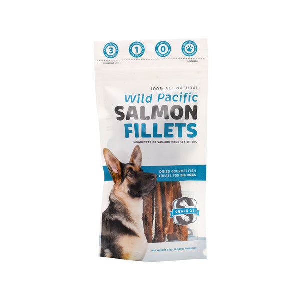 Salmon Fillets for Dogs, 65g