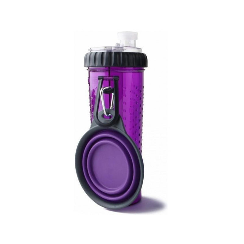 Snack-Duo with Travel Cup, Color Purple, 24oz/709ml