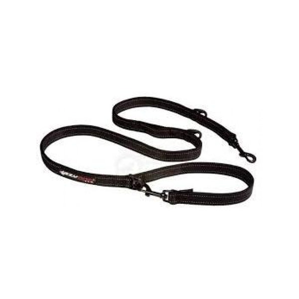 Vario 6 - Heavy Duty Leash w/ Standard Clips, Color: Black