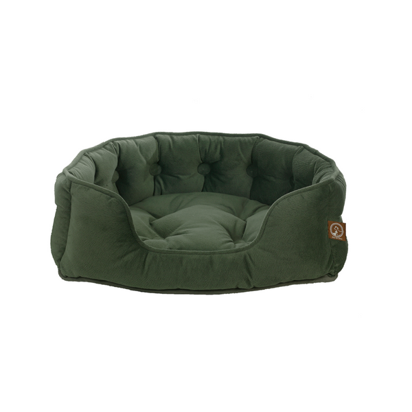 Faux Suede Snuggle Bed, Color Olive, Large