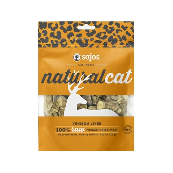 100% Natural Venison Liver Cat Treats, 1oz