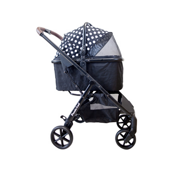 Eco Liona Pet Stroller, Color: Black & White