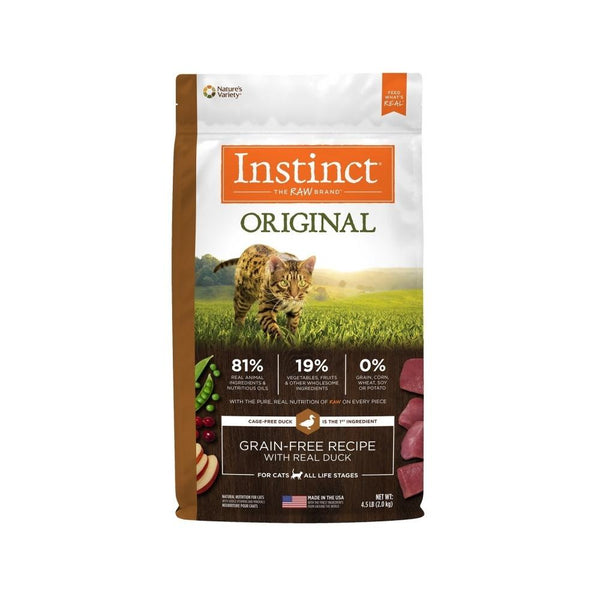 Original Grain Free Cat Kibble - Duck, 4.5lb