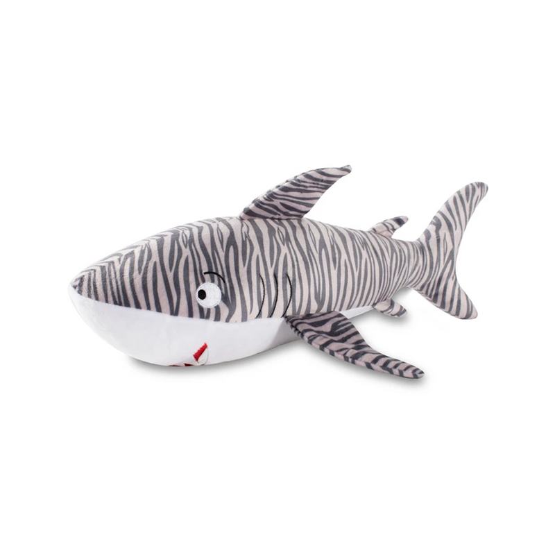 Large Tiger Shark Dog Toy