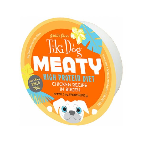 Meaty Dog Bowl - Chicken in broth, 3oz