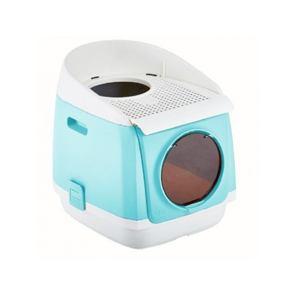 Free Cabin Litter Box, Color: Cyan light blue