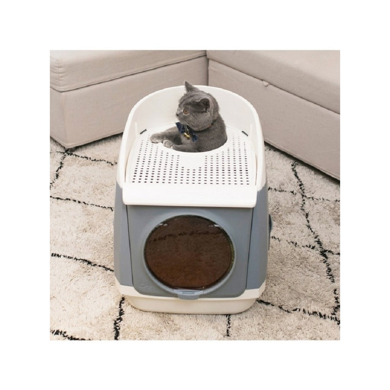Free Cabin Litter Box, Color: Gray