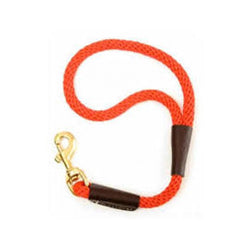 Traffic Lead Short Leash 1/2in, Color  Orange, 16""