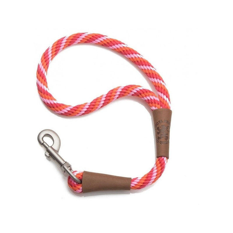 "Traffic Lead Short Leash, Color Red, 1/2"", 16"""