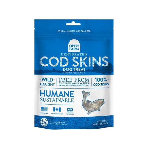 Dehydrated Cod Skin Treats, 2.25oz