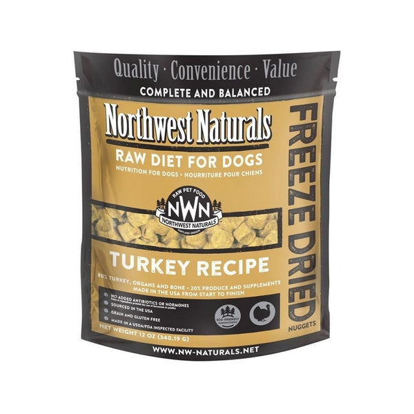 Freeze Dried Turkey Nuggets for Dogs, 12oz