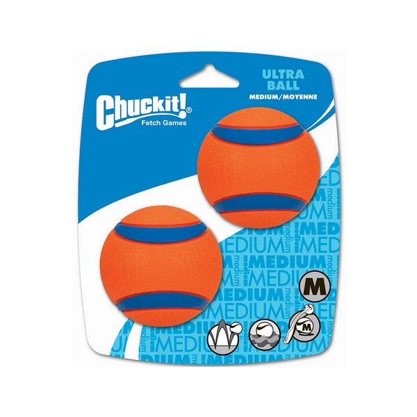 Ultra Balls Med 2x - Canine Hardware Chuck It