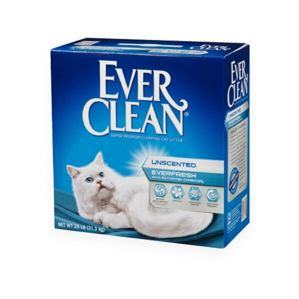 Unscented Everfresh with Activated Charcoal Cat Litter, 25lb
