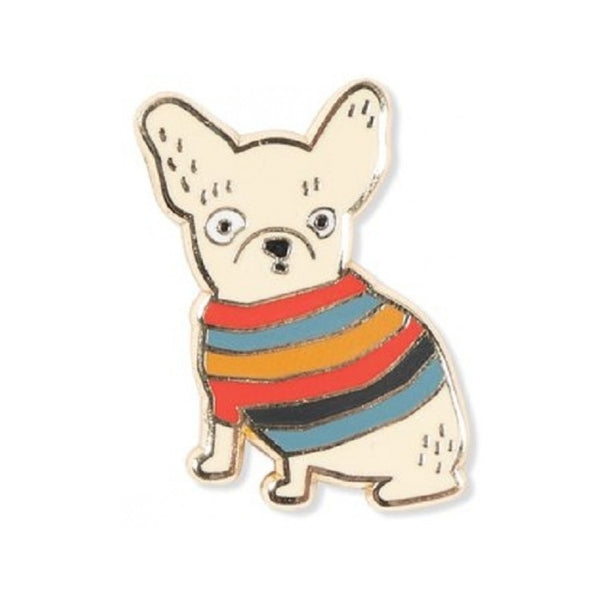 Weird Frenchie Enamel Pin