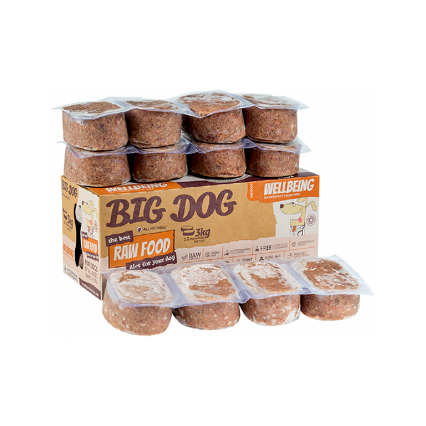Wellbeing Raw Frozen for Dogs, 12x250g