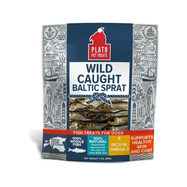 Wild Caught Baltic Sprat Fish Treats Weight : 3oz