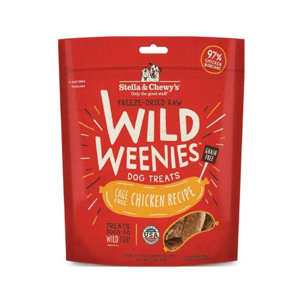 Treats - Wild Weenies Cage Free Chicken, 3.25oz