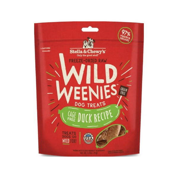 Wild Weenies Cage Free Duck Dog Treats, 3.25oz