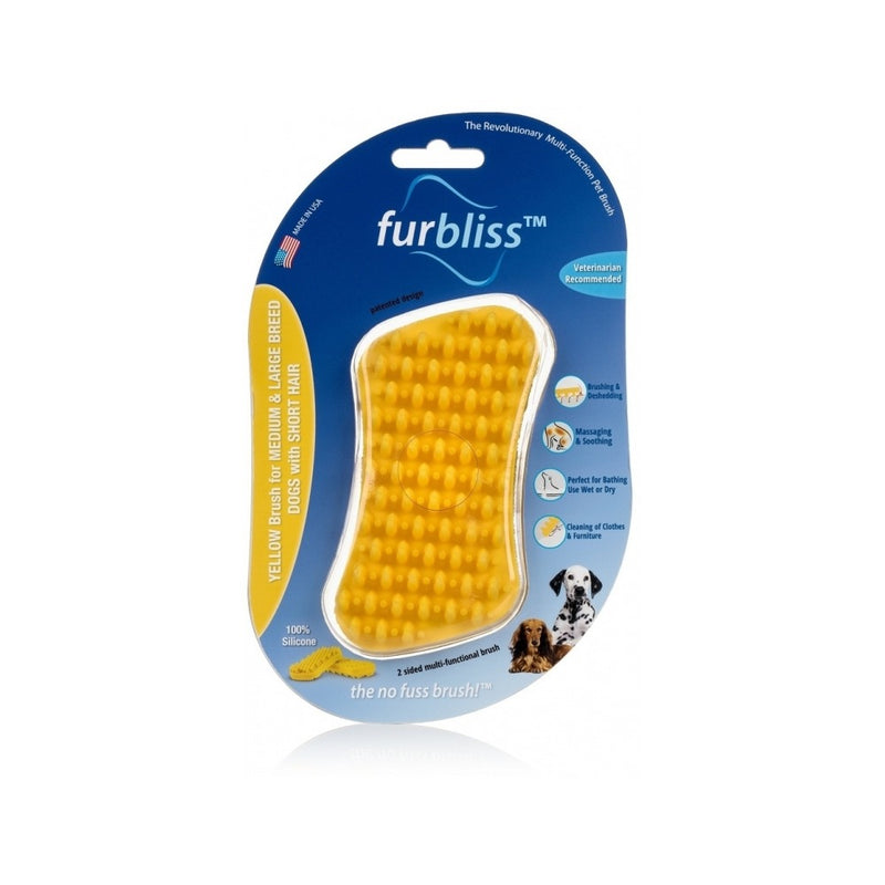 Yellow Brush for Large Pets with Short Hair